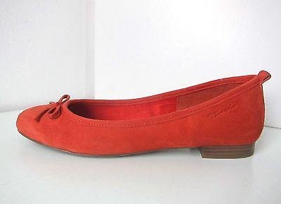Tamaris Ballerina Wildleder mandarin Gr 40 suede shoes orange ballerinas birago