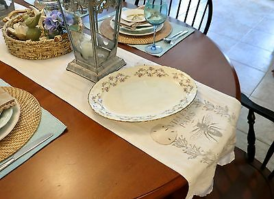 "LARGE SERVING CHINA PLATTER OVER 15"" VINTAGE POPE GOSSER STERLING 38 USA"