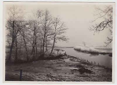 (F17799) Orig. Foto Bremen Kuhsiel, Rauhreif am Wasser 1932 online kaufen
