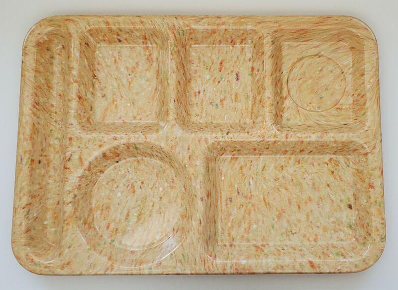 "Texas Ware Pink Confetti Cafeteria Lunch Tray Plastic 14"" x 10"" Vintage Retro"