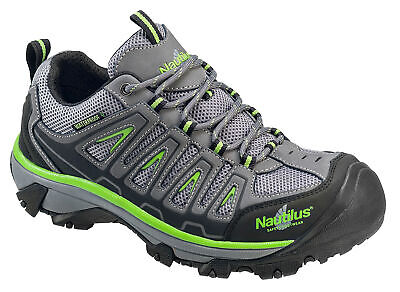 Nautilus Mens Steel Toe WP EH Athletic W Grey Nubuck Leather Shoes