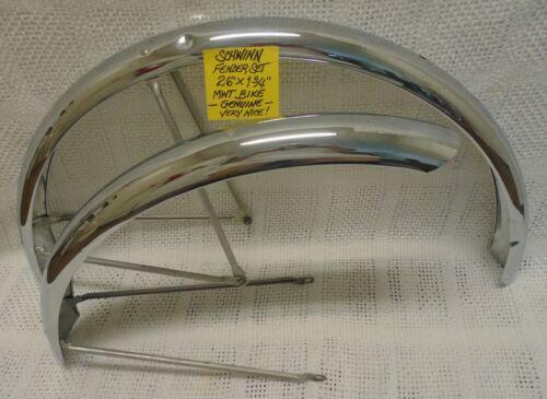 "Schwinn Front & Rear Fender Set, Chrome, 26"" MWT Bike, 1960"