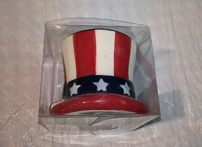 Holiday Salt And Pepper Shakers Red White Blue Stripes Stars Shape Of