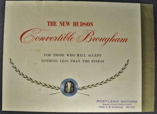 1949 Hudson Convertible Brougham Brochure Commodore Super-6 Nice Original 49