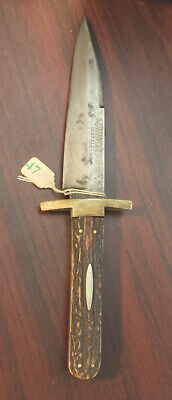RARE ANTIQUE GEORGE WOSTENHOLM & SON WASHINGTON WORKS IXL BOWIE HUNTING KNIFE
