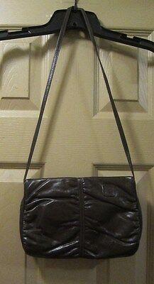 VINTAGE ANNE KLEIN CAULDRON BROWN 2 PC SHOULDER BAG PURSE W/ CHANGE WALLET, GPOC (Cauldron Handbag)