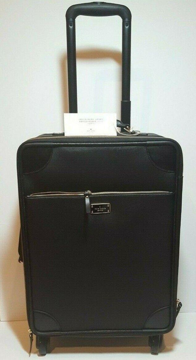 kate spade black leather international travel carry