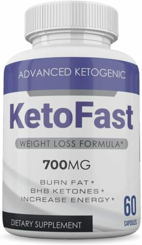 KETO FAST ADVANCED KETOGENIC 700 MG 60 CAPSULES 1 MONTH SUPPLY **FAST SHIPPING**