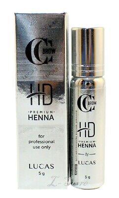 CC Brow Henna Premium HD Eyebrow Tint 10 Shades for Professional 0.18 oz (5 g)