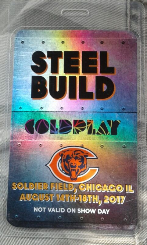 ColdPlay Steel Build Hologram work Pass Chicago Bears SOLDIER FIELD CHICAGO Il