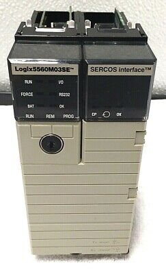 Allen Bradley 1756-l60m03se Logix 5560m03se Processor And Sercos Unit