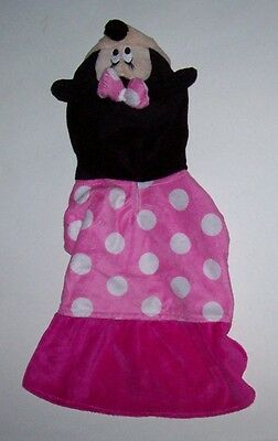 Disney Minnie Mouse Dog Cat Pet Halloween Costume Dress up Pink Plush Size Small](Minnie Mouse Pet Costume)