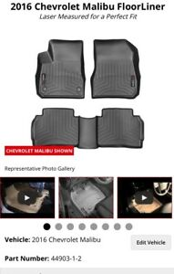 NEW WeatherTech Floor Liners for 2016 Chev Malibu