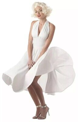 Marilyn Monroe Costumes (Marilyn Monroe Costume Size Large L (10-12) Infamous White Dress)