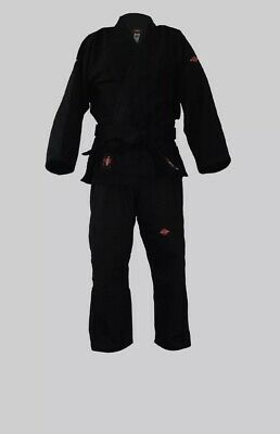 KANKU Black Jiu jitsu uniform, 550 gram Gold Weave, Bjj gi for Kids M-2