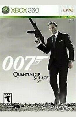 James Bond 007: Quantum of Solace (Microsoft Xbox 360, 2008) Complete