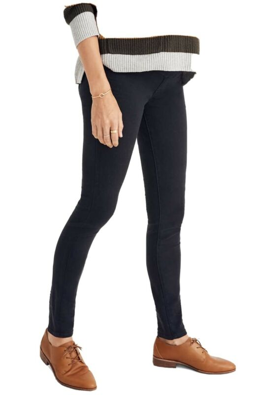 Madewell Over The Belly Maternity Skinny Jeans 32 – Black Lunar Wash Denim