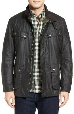 Barbour Men's International Duke Waxed Cotton Jacket Black Sz XL $550