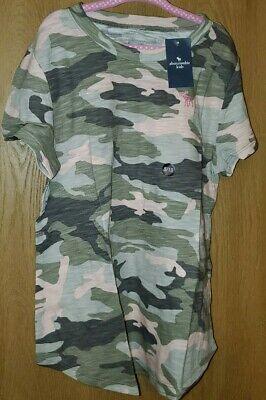 Abercrombie Kids  t-shirt Girls - Size 9/10 Pink Camo