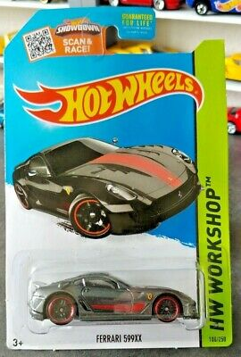 2015 Hot Wheels Ferrari 599xx Gray / Non Super