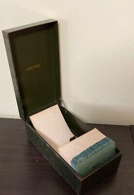 Vintage Art Steel Co. Metal Cabinet Steelmaster Index Card File With Dividers