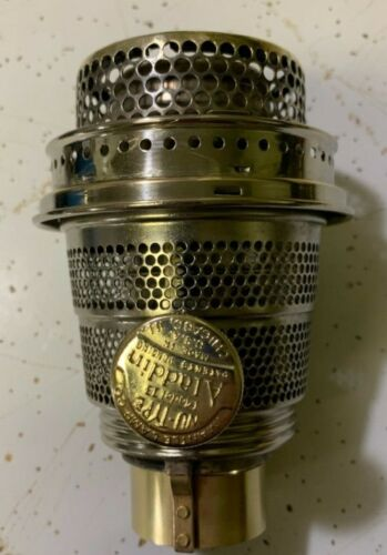 LOOK!! BRIGHT!! ALADDIN LAMP MODEL B POLISHED NICKEL  BURNER!!