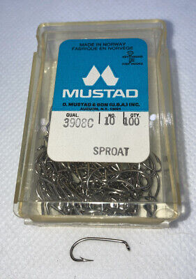 FOR FLY TYING OR COARSE FISHING MUSTAD SIZE 12 HOOKS MODEL 3123 BOX OF 50