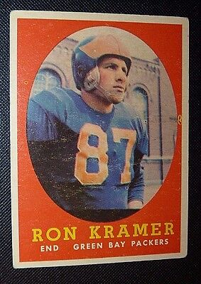 1958 Topps #58 RON KRAMER GB PACKERS ROOKIE RC LIONS EX+ Football Card MICHIGAN