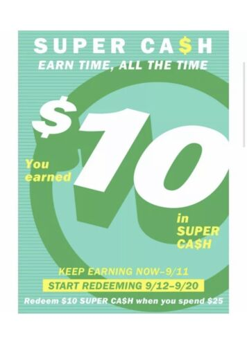 Old Navy Super Cash 10 Off 25 In-Store Or Online 9/12-9/20 - Email Delivery - $1.99