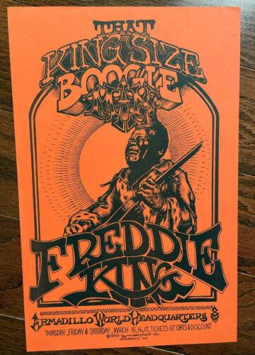 1973 MICAEL PRIEST FREDDIE KING BOOGIE MAN ARMADILLO TEXAS CONCERT POSTER