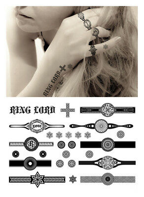 Elegant Temporary Tattoos, Sexy Finger Tattoo - Rings ()