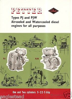 Equipment Brochure - Petter - Pj Pjw - One Two Cylinder Engine - C1965 E1686