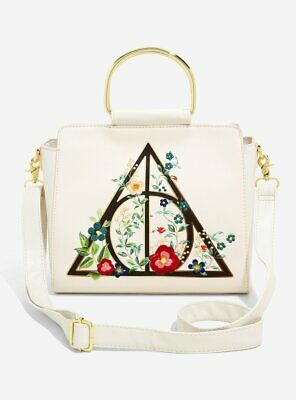 Loungefly Harry Potter Deathly Hallows Floral Cross Body Bag BNWT RARE!!!