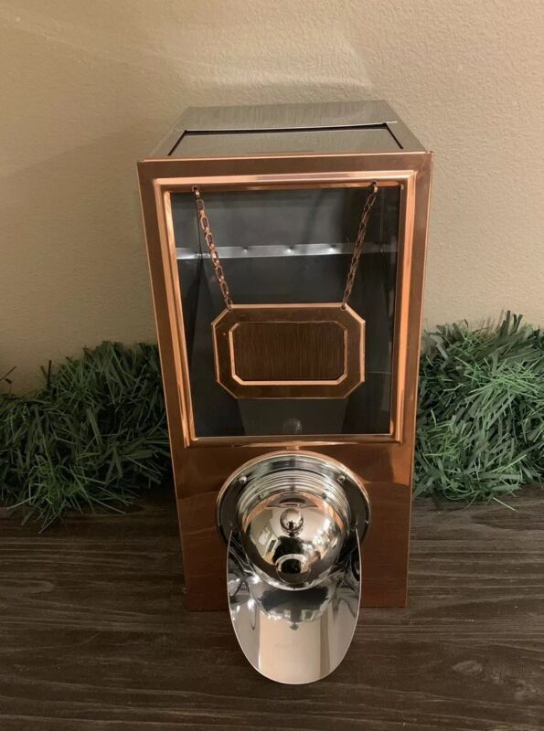 4 ** Coffee Bean DISPENSERS Bins Stainless Copper Café Bistro Display Commercial