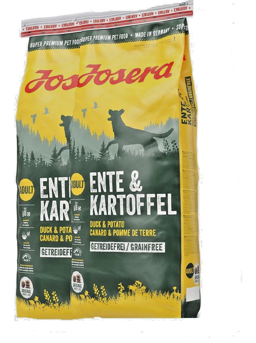 Josera Exklusiv Ente & Kartoffel 2x15 kg Hundefutter Trockenfutter getreidefrei