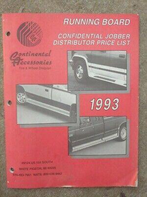Vintage 1993 Continental Accessories Truck Running Boards Pigeon MI Price List