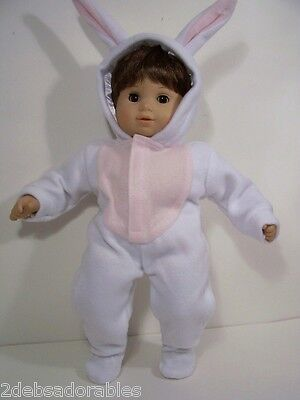 BUNNY RABBIT Suit Halloween Easter Costume Doll Clothes For Bitty Baby (Debs) (Bunny Halloween Costume For Baby)