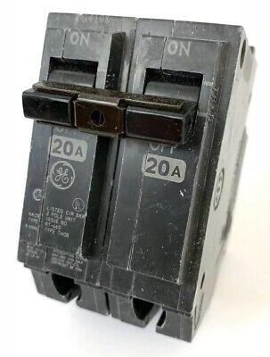 GE Circuit Breaker 20 Amp 20A Single Pole THQB RT-692 120//240 V