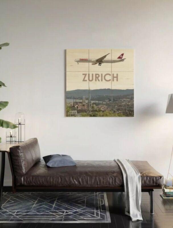 Swiss Boeing 777 over Zurich Art - 3