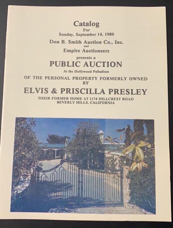 Elvis & Priscilla Auction Catalog for 1174 Hillcrest CA Home / From Memphis