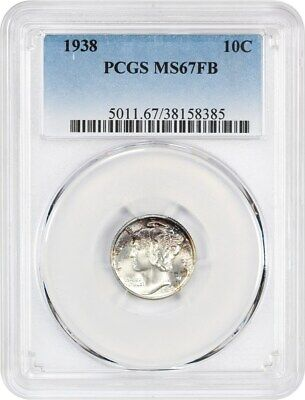 1938 10c PCGS MS67 FB - Mercury Dime