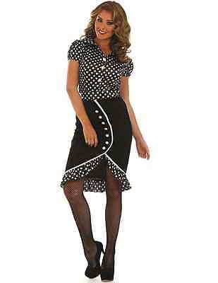Ladies Sexy 1940s Pin Up Babe 40s Fancy Dress Costume Outfit Uk 8 26