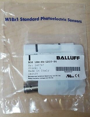 Balluff Bos 18m Pa Ld10 S4 Photoelectric Sensor 10-30vdc M18x1
