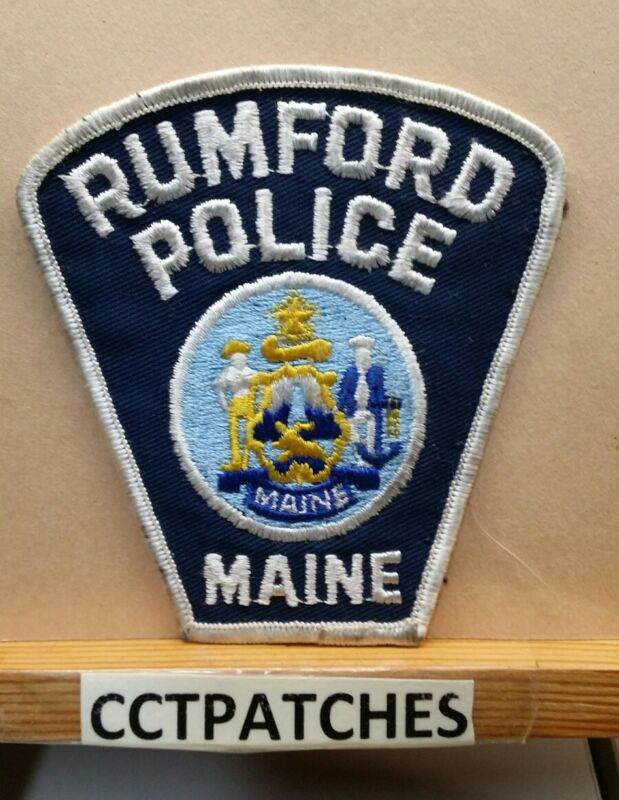 RUMFORD, MAINE POLICE SHOULDER PATCH ME