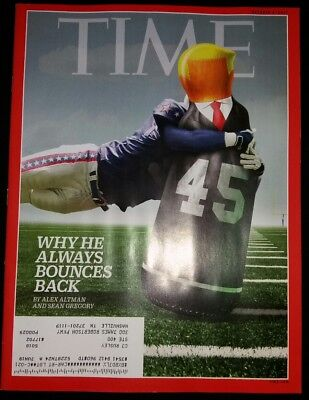 DONALD TRUMP NFL Time Magazine 10/9/17 October 9 2017 MINT NBR Free Shipping
