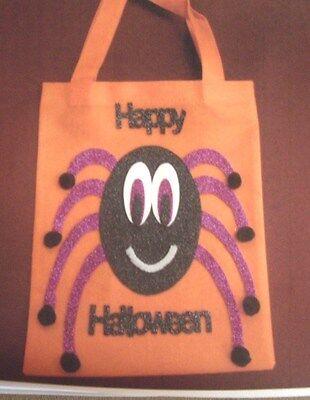 HALLOWEEN SPIDER TRICK OR TREAT BAG CRAFT KIT