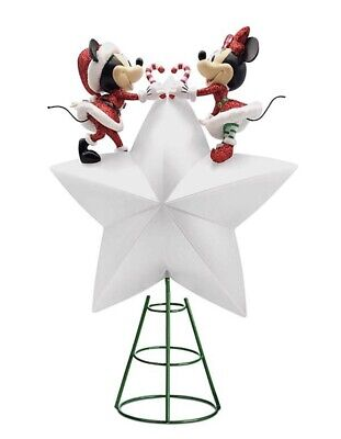 Mickey and Minnie Mouse Light-Up Holiday Tree Topper 2020 Christmas Collection