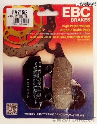 Triumph Tiger 1050 (2007 to 2011) EBC Kevlar REAR Brake Pads (FA215/2) (1 Set)