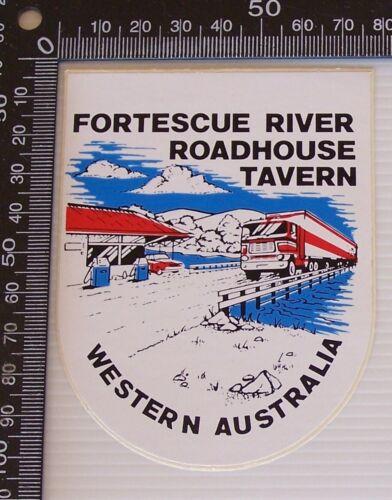 VINTAGE FORTESCUE ROADHOUSE TAVERN WA AUSTRALIA SOUVENIR PROMO VINYL STICKER