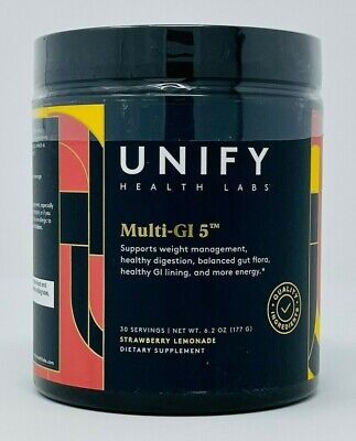 Unify Health Labs Multi-GI 5 Supports Gut Health 6.2 oz Strawberry Lemonade NEW